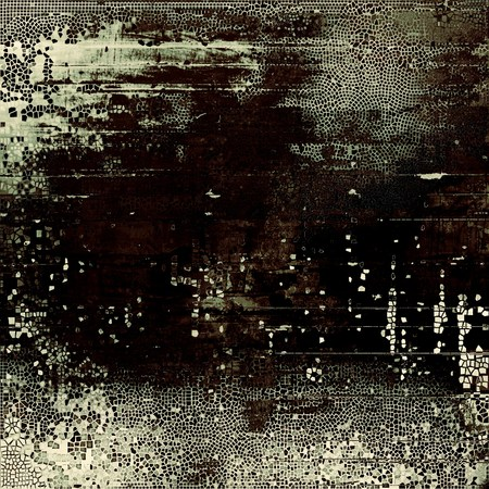 blemish: Old, grunge background or damaged texture in retro style. With different color patterns: brown; gray; black; white