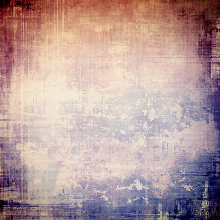 violet red: Highly detailed scratched texture, aged grungy background. Vintage style composition with different color patterns: brown; blue; red (orange); purple (violet); pink