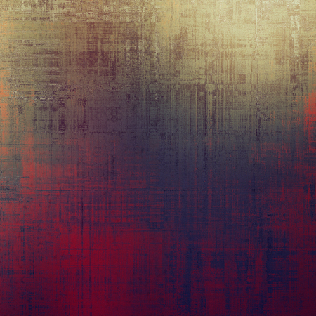 degraded: Grunge design composition over ancient vintage texture. Creative background with different color patterns: yellow (beige); brown; gray; red (orange); purple (violet); pink Stock Photo