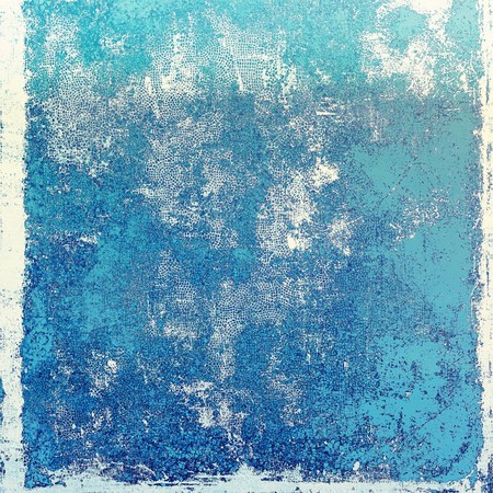 corrosion: Vintage template or background with grungy texture, antique decor and different color patterns: blue; gray; cyan; white