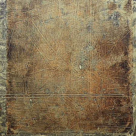 degraded: Old school frame or background with grungy textured elements and different color patterns: yellow (beige); brown; gray; black