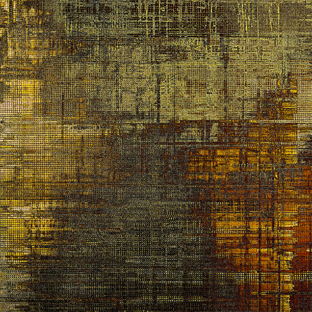 eroded: Grunge background for a creative vintage style poster. With different color patterns: yellow (beige); brown; gray; black Stock Photo