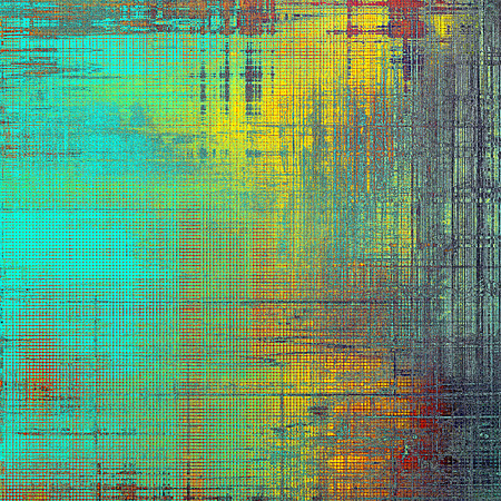 crosshatching: Grunge background or texture with vintage frame design and different color patterns: yellow (beige); green; blue; gray; red (orange); cyan