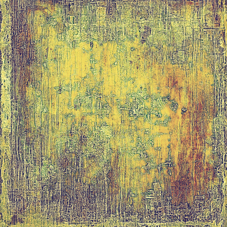degraded: Old, grunge background or damaged texture in retro style. With different color patterns: yellow (beige); brown; green; gray; purple (violet); pink