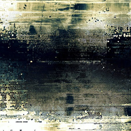 shadowy: Grunge design composition over ancient vintage texture. Creative background with different color patterns: brown; green; blue; gray; black; white