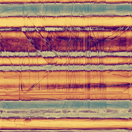 eroded: Vintage background, antique grunge backdrop or scratched texture with different color patterns: yellow (beige); blue; red (orange); purple (violet); gray; pink Stock Photo