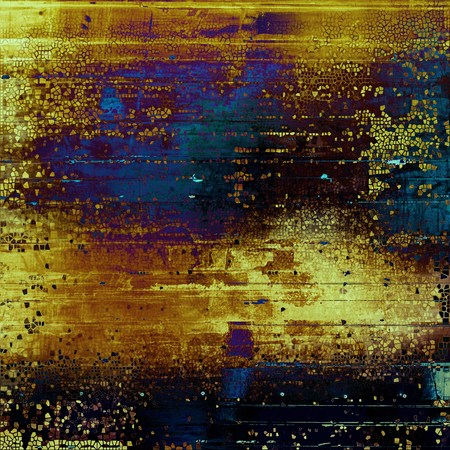 vintage look: Antique texture, weathered background with vintage look and different color patterns: yellow (beige); brown; blue; purple (violet); black