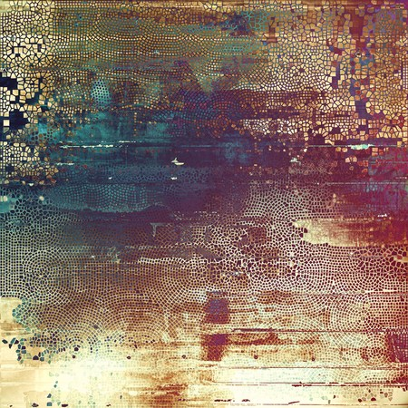 blemish: Grunge background with vintage style graphic elements, retro feeling composition and different color patterns: yellow (beige); brown; blue; red (orange); purple (violet); pink