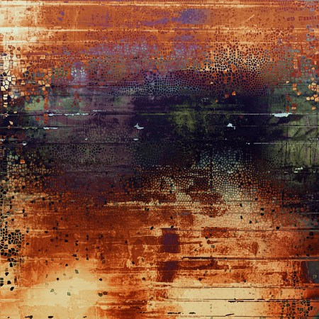 violet red: Vintage style designed background, scratched grungy texture with different color patterns: yellow (beige); brown; green; red (orange); purple (violet); black