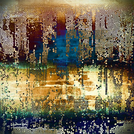 shadowy: Old grunge vintage background or shabby texture with different color patterns: yellow (beige); brown; green; blue; red (orange); black