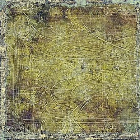 oldest: Oldest vintage background in grunge style. Ancient texture with different color patterns: yellow (beige); brown; green; gray; black Stock Photo