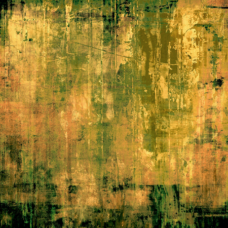 blemish: Distressed grunge texture, damaged vintage background with different color patterns: yellow (beige); brown; green; gray