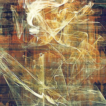 colores calidos: la textura de la antigüedad, resistido fondo con mirada de la vendimia y los diferentes patrones de color: amarillo (color beige); marrón; naranja roja); Violeta púrpura); gris; blanco Foto de archivo