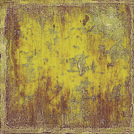 eroded: Retro style background with grungy vintage texture and different color patterns: yellow (beige); brown; green; gray