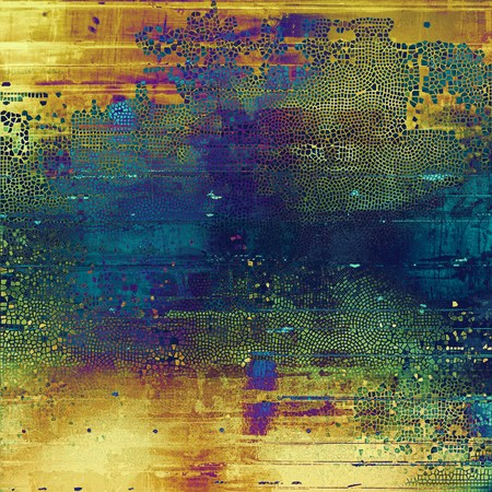 obscure: Retro style background with grungy vintage texture and different color patterns: yellow (beige); brown; green; blue; red (orange); purple (violet) Stock Photo