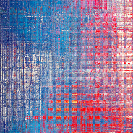 crosshatching: Vintage texture, old style frame decoration with grunge graphic elements and different color patterns: blue; red (orange); purple (violet); cyan; pink Stock Photo