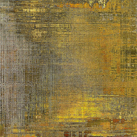 crosshatching: Creative grunge background in vintage style. Faded shabby texture with different color patterns: yellow (beige); brown; gray; red (orange); black