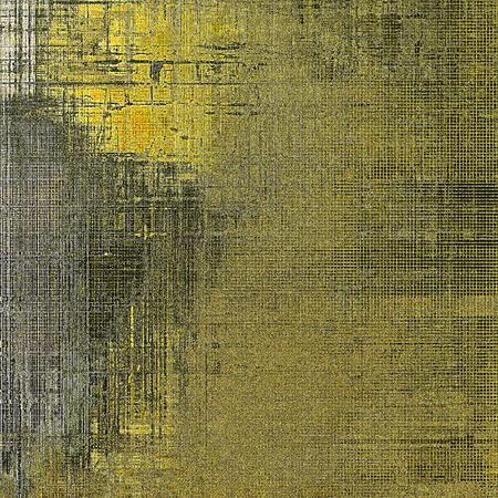 Kleurrijke grunge textuur of achtergrond met vintage stijlelementen en verschillende kleurpatronen: geel (beige); bruin; grijs; zwart