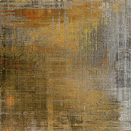 crosshatched: Abstract vintage background with grunge effects, ragged elements, and different color patterns: yellow (beige); brown; gray; red (orange); black