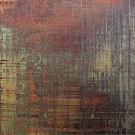 eroded: Vintage decorative texture with grunge design elements and different color patterns: yellow (beige); brown; gray; red (orange); black