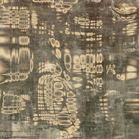 eroded: Abstract vintage background with faded grungy texture. Aged backdrop with different color patterns: yellow (beige); brown; gray; black