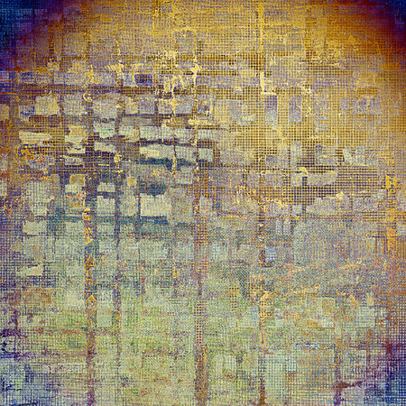 degraded: Old vintage backdrop. Original background or aged texture with different color patterns: yellow (beige); brown; gray; blue; red (orange); purple (violet) Stock Photo