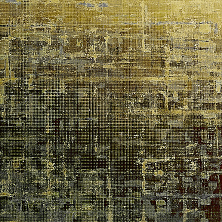 eroded: Old background with grunge decorative elements. Retro composition for your design. With different color patterns: yellow (beige); brown; gray; black Stock Photo