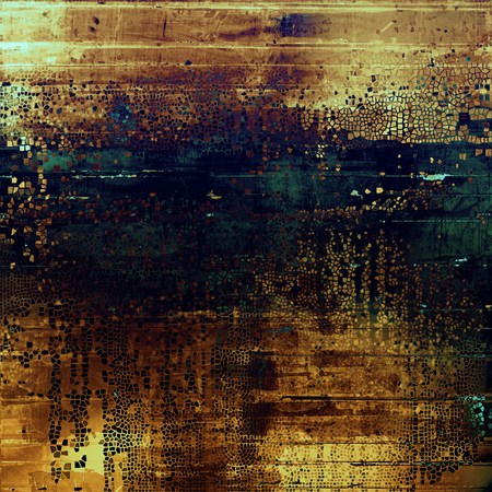 blemish: Elegant vintage background, antique texture. Designed grunge template with different color patterns: yellow (beige); brown; black; blue; green; purple (violet) Stock Photo