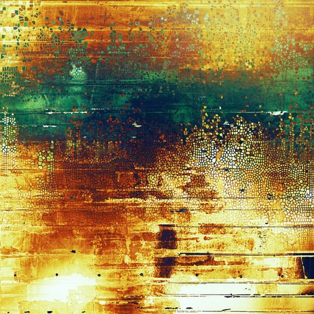 exceptional: Abstract grunge weathered background of vintage texture. With different color patterns: yellow (beige); brown; green; blue; red (orange) Stock Photo