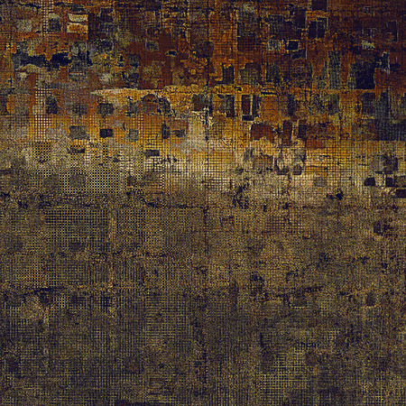 crosshatching: Grunge background or vintage texture in traditional retro style. With different color patterns: yellow (beige); brown; blue; gray Stock Photo
