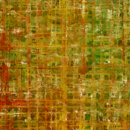 eroded: Stylish grunge texture, old damaged background. With different color patterns: yellow (beige); brown; green; red (orange); gray Stock Photo