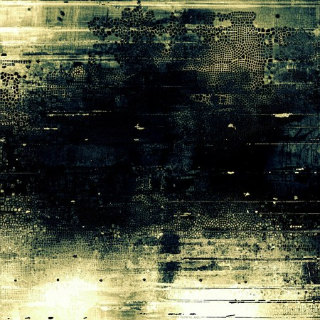 eroded: Abstract grunge weathered background of vintage texture. With different color patterns: yellow (beige); brown; green; blue; black; gray Stock Photo