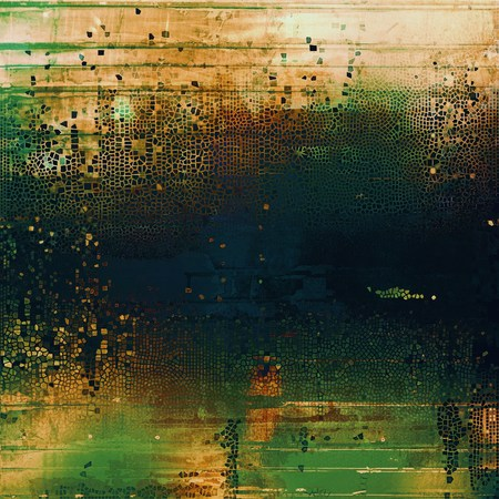 eroded: Creative elegant design used as retro background for your art project. With grunge texture and different color patterns: yellow (beige); brown; green; blue; black