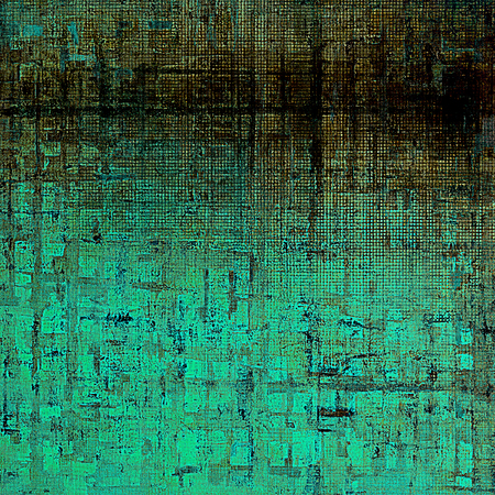 eroded: Vintage old-style texture, worn and rough grunge background with different color patterns: brown; blue; black; cyan