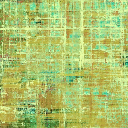 eroded: Retro style graphic composition on textured grunge background. With different color patterns: yellow (beige); brown; green; blue; cyan; gray