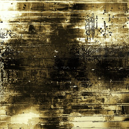 Grunge texture or background with retro design elements and different color patterns: yellow (beige); brown; gray; black; white Stock Photo