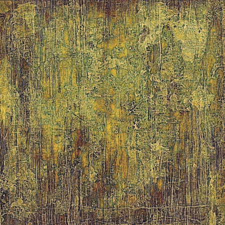 crosshatching: Vintage textured background with copy space. Old style backdrop with different color patterns: yellow (beige); brown; green; gray Stock Photo