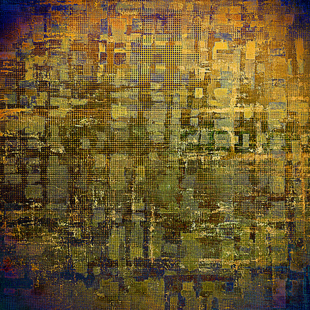 gray thread: Abstract grunge background or damaged vintage texture. With different color patterns: yellow (beige); brown; green; blue; gray