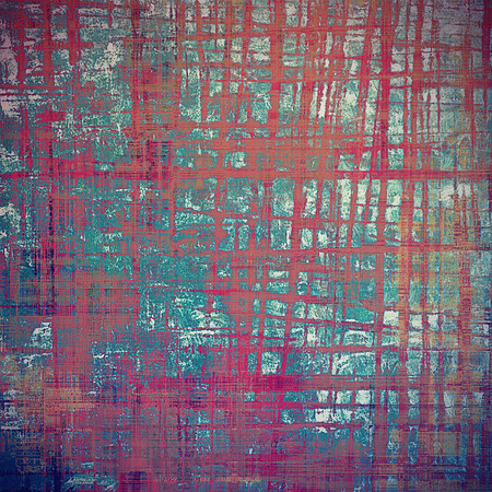 degraded: Oldest vintage background in grunge style. Ancient texture with different color patterns: brown; blue; cyan; red (orange); purple (violet); pink