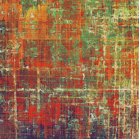 eroded: Creative grunge background in vintage style. Faded shabby texture with different color patterns: yellow (beige); brown; green; red (orange); purple (violet)