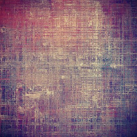 crosshatching: Distressed grunge texture, damaged vintage background with different color patterns: yellow (beige); brown; gray; blue; purple (violet); pink Stock Photo