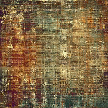 degraded: Retro vintage style elements on aged grunge texture. With different color patterns: yellow (beige); brown; gray; green; red (orange); pink