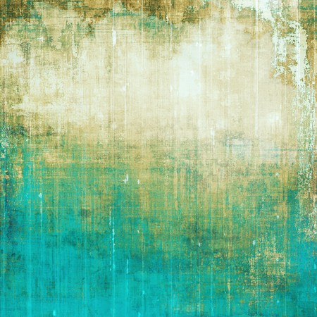 corrosion: Old abstract texture used as shabby grungy background. With different color patterns: yellow (beige); brown; green; blue; cyan; white Stock Photo