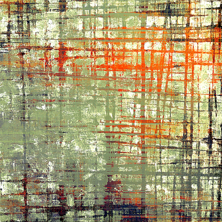 eroded: Old style design, textured grunge background with different color patterns: yellow (beige); brown; gray; green; red (orange); pink