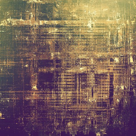 old fashioned sepia: Scratched vintage colorful background, designed grunge texture. With different color patterns: yellow (beige); brown; gray; green; purple (violet) Stock Photo