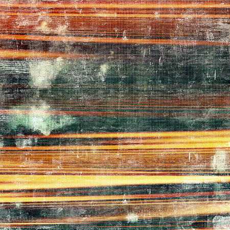 corrosion: Aged vintage background with weathered texture, grunge design elements and different color patterns: yellow (beige); brown; black; green; red (orange)