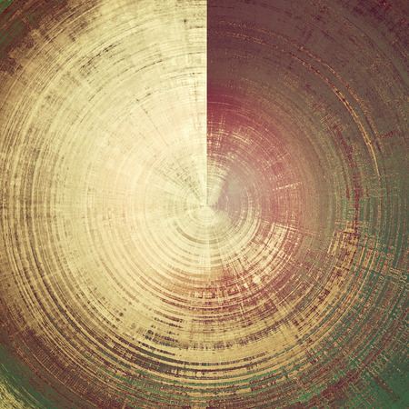 eroded: Spherical vintage background in scrap-booking style, faded grunge texture with different color patterns: yellow (beige); brown; gray; green; purple (violet); pink Stock Photo