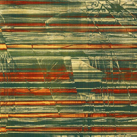 eroded: Stylish grunge texture, old damaged background. With different color patterns: yellow (beige); brown; gray; green; red (orange) Stock Photo