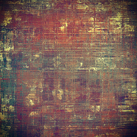 eroded: Old vintage backdrop. Original background or aged texture with different color patterns: yellow (beige); brown; green; red (orange); purple (violet); pink