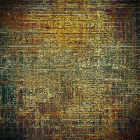 crosshatching: Grunge retro texture, aged background with vintage style elements and different color patterns: yellow (beige); brown; gray; black; green; red (orange) Stock Photo